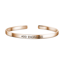 Personalized Engravable Bangle Rose Gold Plated Copper