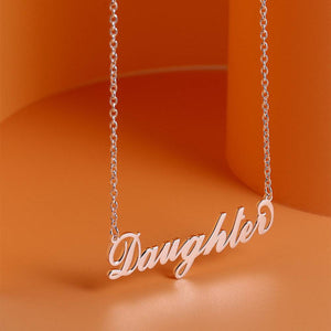 """Carrie"" Style Name Necklace Copper"