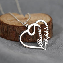 Overlapping Hearts Personalized Name Necklace