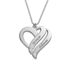 Two Hearts Diamond Necklace