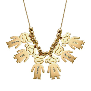 Necklace with Children 6 Charms