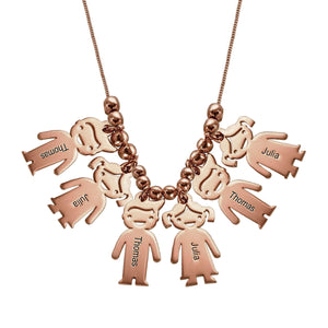 Necklace with Children 7 Charms