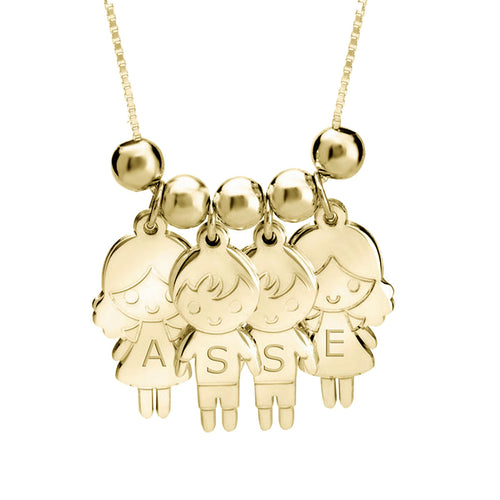 5 Children Cartoon Charms Necklace