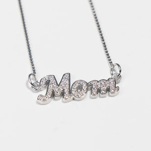 Sterling Silver Crystal Name Necklace
