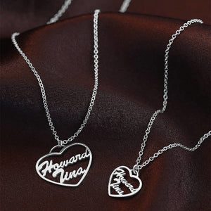 In The Heart Personalized Name Necklace