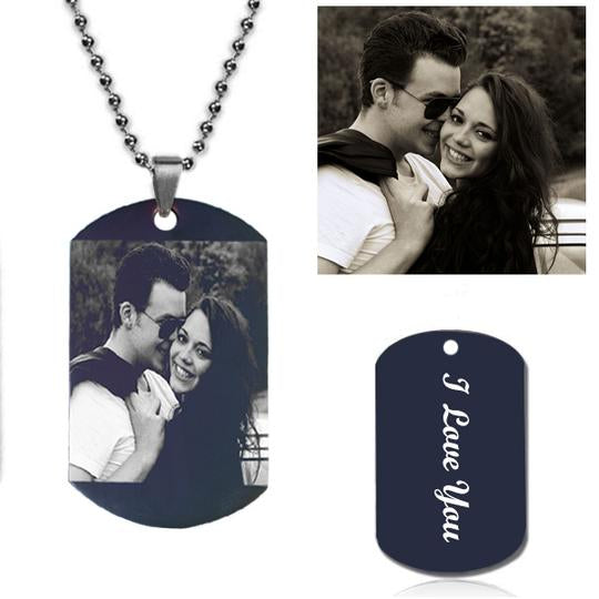 Customize Photo Necklace Titanium Steel