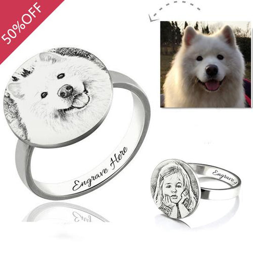 Personalized Photo Engraved Ring
