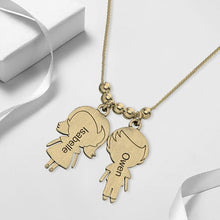 Necklace with lovely Children 2 Charms