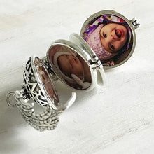 Multi-layer Photo Case Locket Planet Necklace