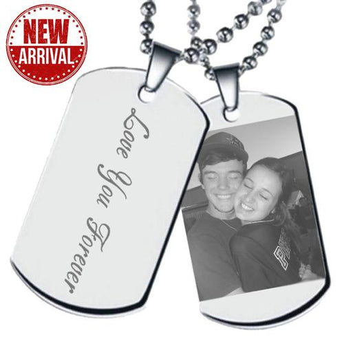 Customize Picture Necklace Of Titanium Steel