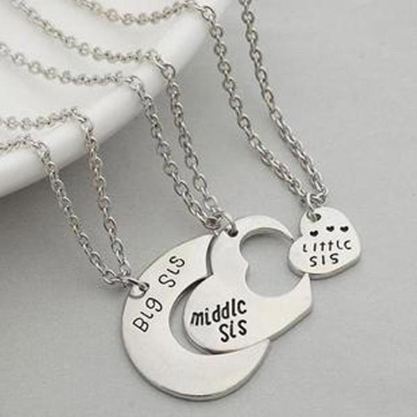 3 In 1 Heart Personalize Necklace Set