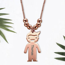 Necklace with Children 1 Charms