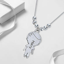 Necklace with lovely Children 1 Charms