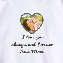 Personalized Photo Embroidery Hoodie - Gray