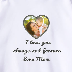 Personalized Photo Embroidery Hoodie - White