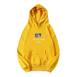 Personalized Photo Embroidery Hoodie - Yellow