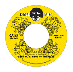 "Leila M. & Tired of Triangles : ""Intertwined Destinies"" b/w ""Crimson Gold"" 45"