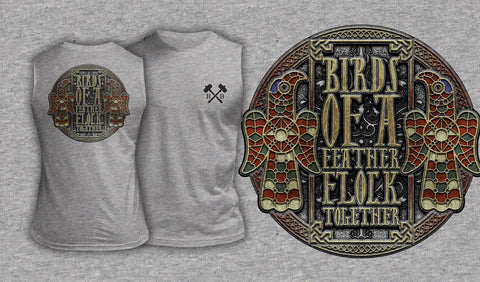 Birds Of A Feather Flock Together - Muscle Shirt Heather Gray