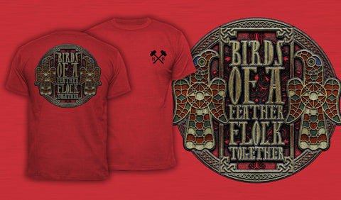 Birds Of A Feather Flock Together - Men's T-Shirt Red