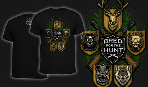 Bred For The Hunt - Men's T-Shirt Black