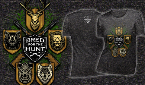 Bred For The Hunt - Women's T-Shirt Heather Black