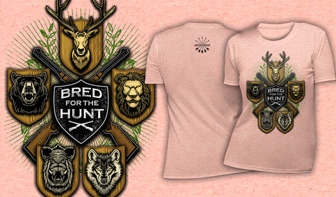 Bred For The Hunt - Women's T-Shirt Heather Peach