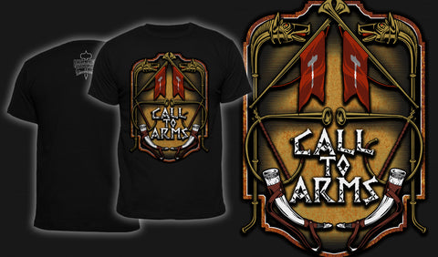 Call To Arms - Men's T-Shirt Black