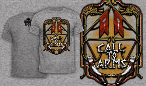 Call To Arms - Men's T-Shirt Heather Gray