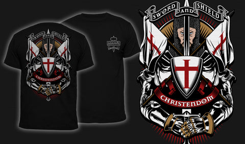 Sword And Shield - Men's T-Shirt Black