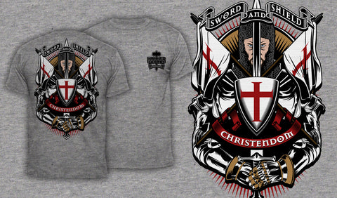 Sword And Shield - Men's T-Shirt Heather Gray