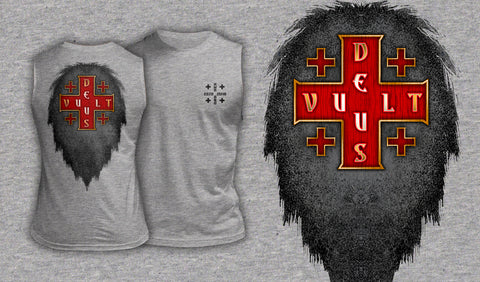 Deus Vult - Muscle Shirt Heather Gray