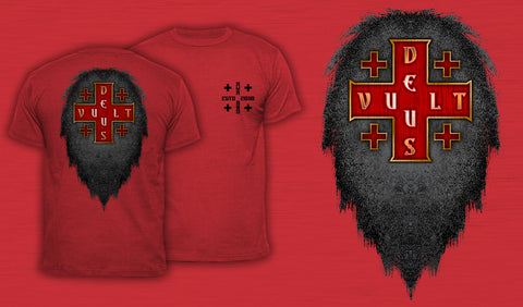 Deus Vult - Men's T-Shirt Red