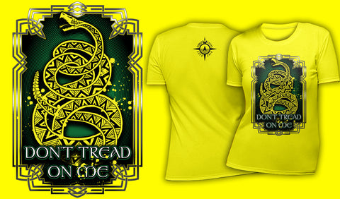 Knotwork Don't Tread On Me - Women's T-Shirt Yellow