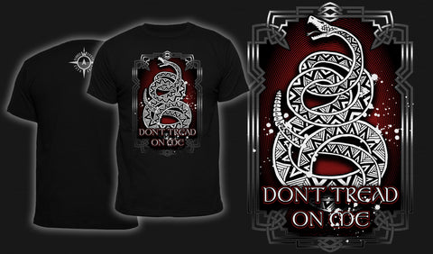 Knotwork Don't Tread On Me Alternate - Men's T-Shirt Black
