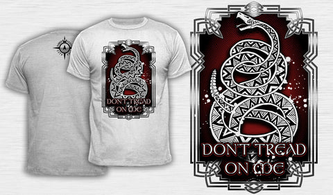 Knotwork Don't Tread On Me Alternate - Men's T-Shirt White