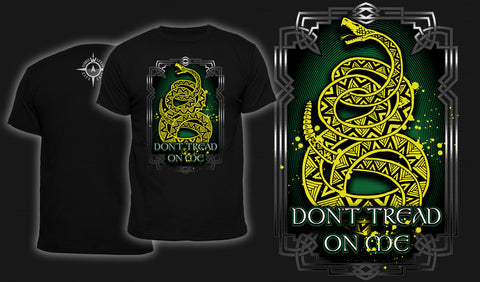 Knotwork Don't Tread On Me - Men's T-Shirt Black