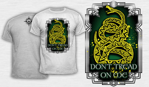 Knotwork Don't Tread On Me - Men's T-Shirt White