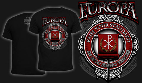 Europa Raise Your Standard - Men's T-Shirt Black
