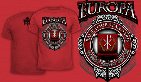 Europa Raise Your Standard - Men's T-Shirt Red