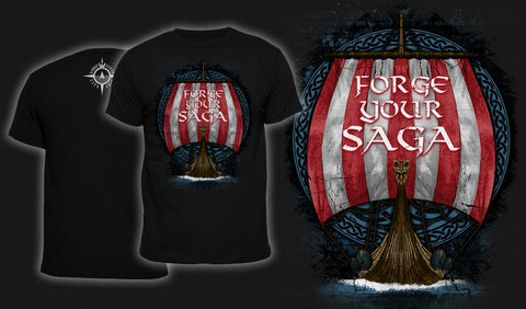 Forge Your Saga - Men's T-Shirt Black