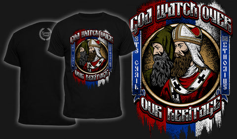 God Watch Over Our Heritage - Men's T-Shirt Black