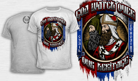 God Watch Over Our Heritage - Men's T-Shirt White
