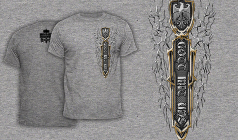 Gott Mit Uns - Men's T-Shirt Heather Gray