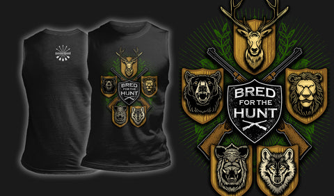 Bred For The Hunt - Muscle Shirt Black