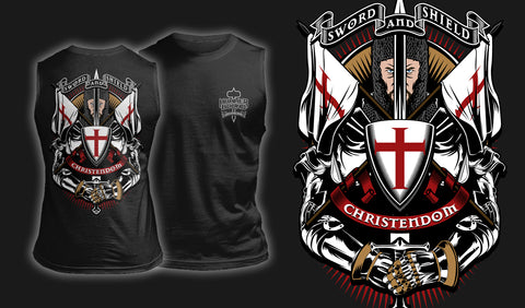 Sword And Shield - Muscle Shirt Black
