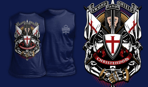 Sword And Shield - Muscle Shirt Navy