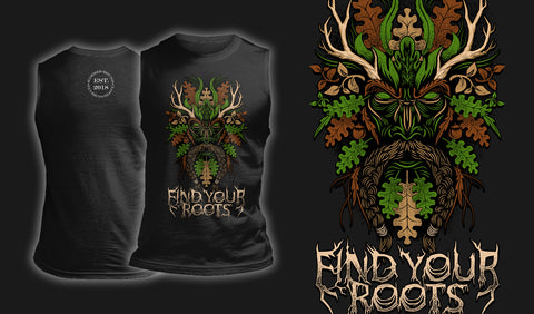 Green Man Find Your Roots - Muscle Shirt Black