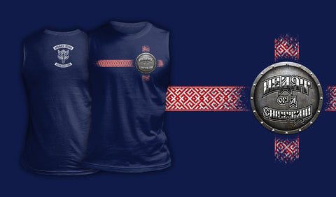 Heart Of A Chieftain - Muscle Shirt Navy
