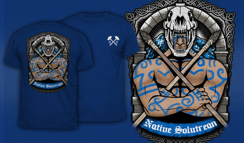 Native Solutrean - Men's T-Shirt Blue