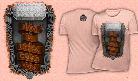 Blood Is Thicker Than Water - Women's T-Shirt Heather Peach